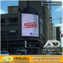 Roof Top Steel Structure Frame Curve Outdoor Led Screen Hoarding Advertising Signs