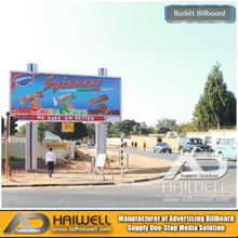 Highway Outdoor Billboard Printing Poster Bulletin Advertisng Structure