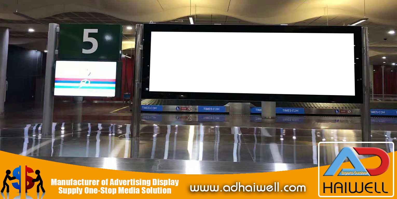 Scrolling-LED-Light-Box-Signage-for-Mauritius-Airport
