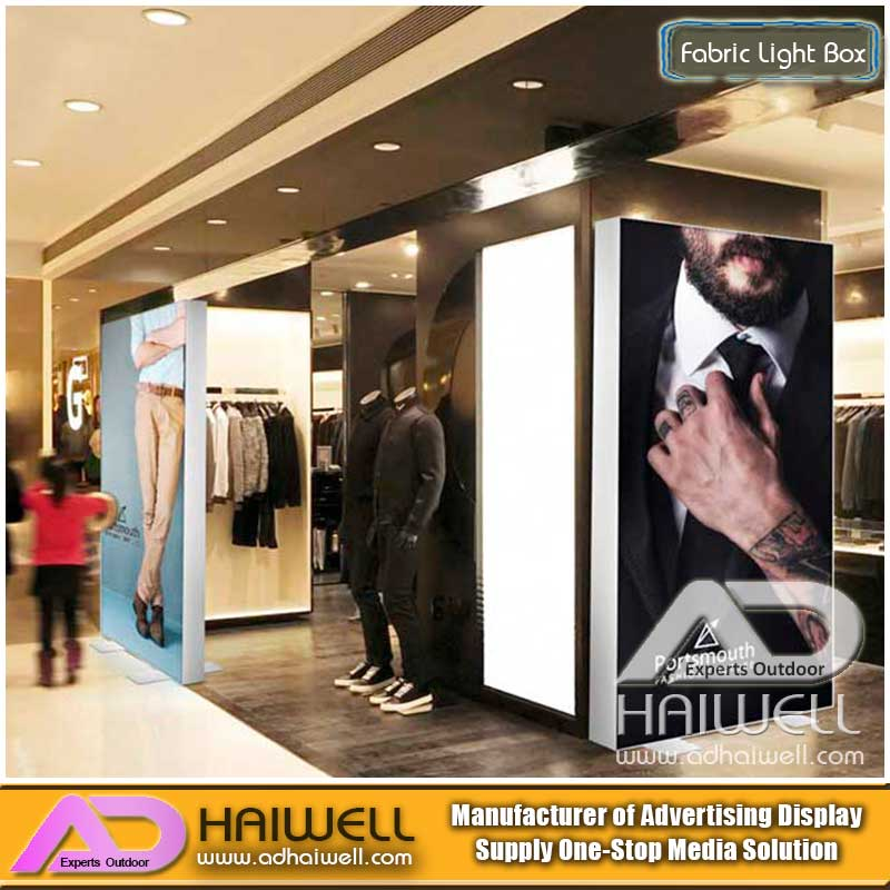 LED Frameless Aluminum Fabric Light Box Digital Display Screen Signage