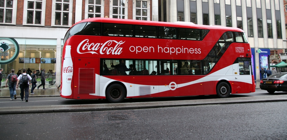 Coca-Cola bus Body advertising
