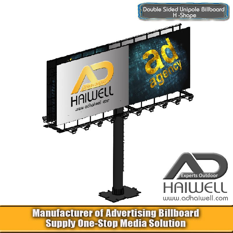 Double Side H Type Outdoor Advertising Billboard Digital Hoardings Display