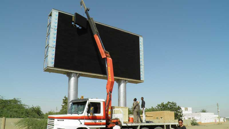 Install LED Billboard Structure Expert in China