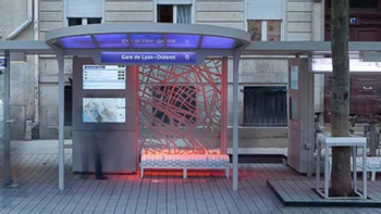 Creative Bus Shelter: Interactive Bus Shelter in Paris