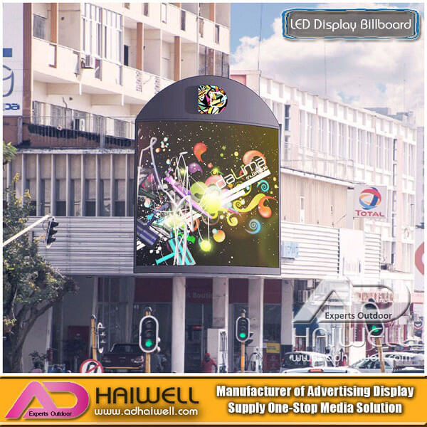 Roof Outdoor Full Color Arc-shaped LED Advertising Display