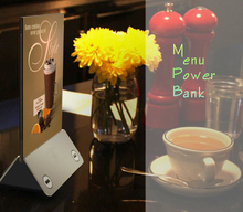 Portable Menu Holder Advertising Display Power Bank