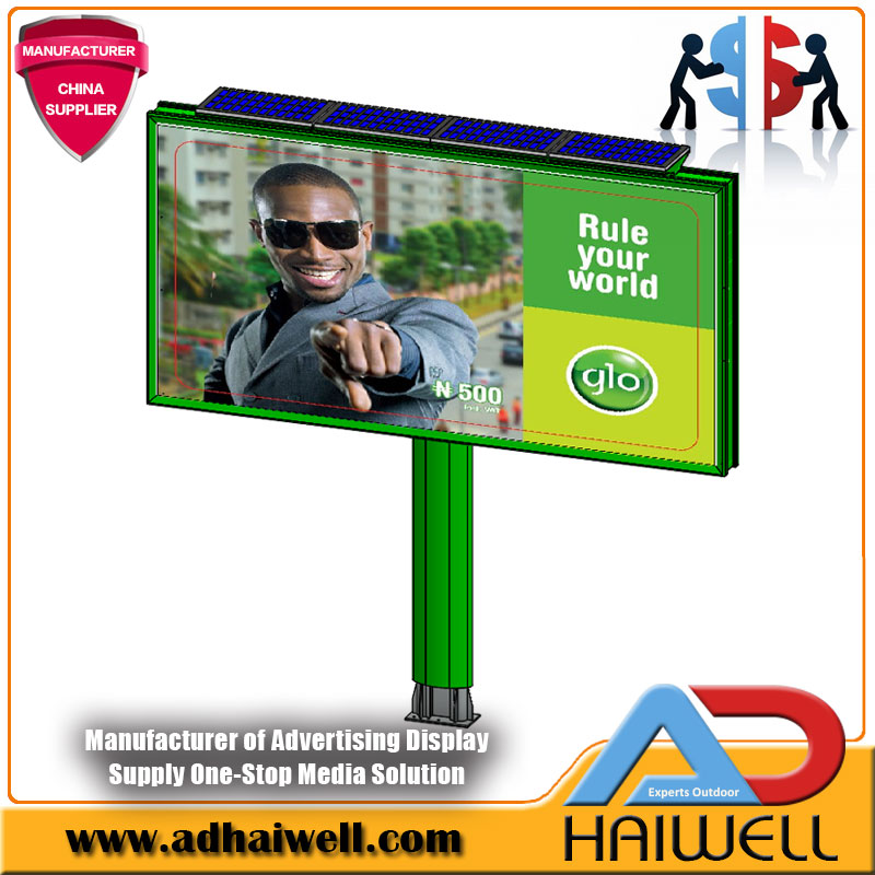6m x 3m Solar Solution Backlit Advertising Billboard