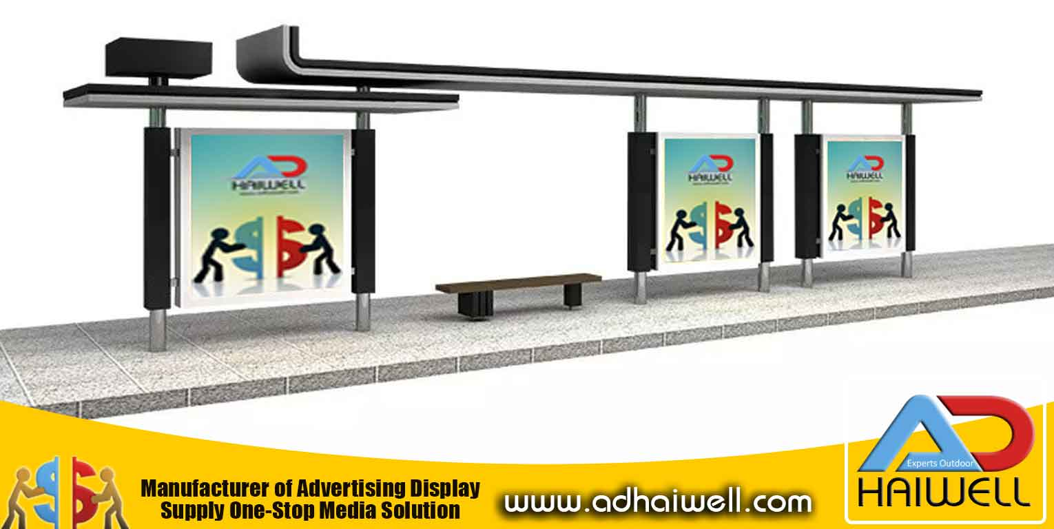 Bus Shelter with Bus Shelter With Advertisement