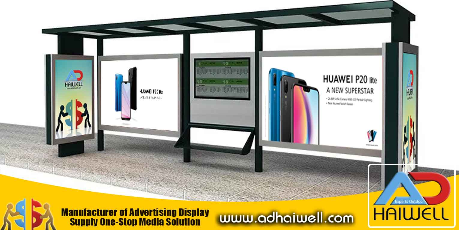 Bus Shelter With Advertising Box